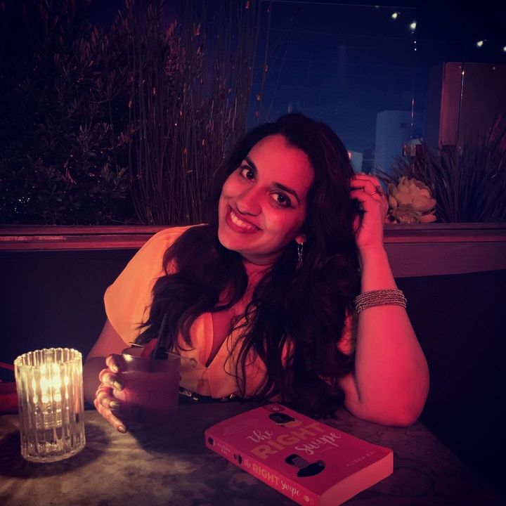 "Author Alisha Rai on a casual date with her last book, ""The Right Swipe."""