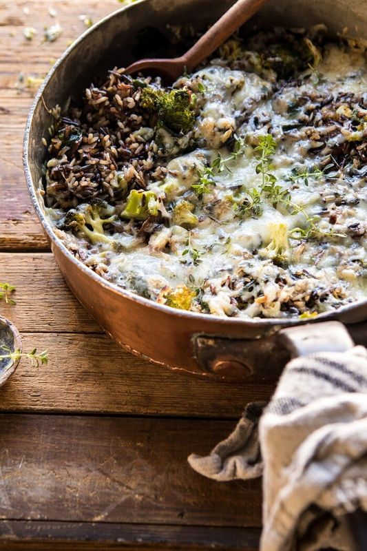 Get the Broccoli Cheese Wild Rice Casserole recipe from Half Baked Harvest