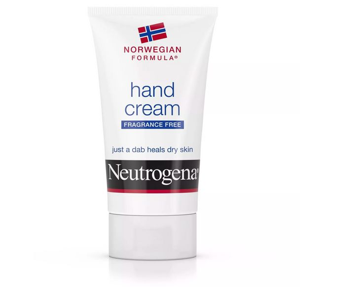 """The choice for two NYC-based dermatologists for its forumla and lack of fragrance. Get the <a href=""""https://www.target.com/p/neutrogena-norwegian-formula-hand-cream-2oz/-/A-12921123?ref=tgt_adv_XS000000&amp;AFID=google_pla_df&amp;fndsrc=tgtao&amp;CPNG=PLA_Beauty%2BPersonal+Care%2BShopping_Local&amp;adgroup=SC_Health%2BBeauty&amp;LID=700000001170770pgs&amp;network=g&amp;device=c&amp;location=9067609&amp;ds_rl=1246978&amp;ds_rl=1247077&amp;ds_rl=1246978&amp;gclid=EAIaIQobChMIw9ih4b6Q6AIVS4FaBR24uQROEAYYASABEgIMJfD_BwE&amp;gclsrc=aw.ds"""" target=""""_blank"""" rel=""""noopener noreferrer"""">Neutrogena Norweigan formula hand cream from Target for $3.99</a>"""