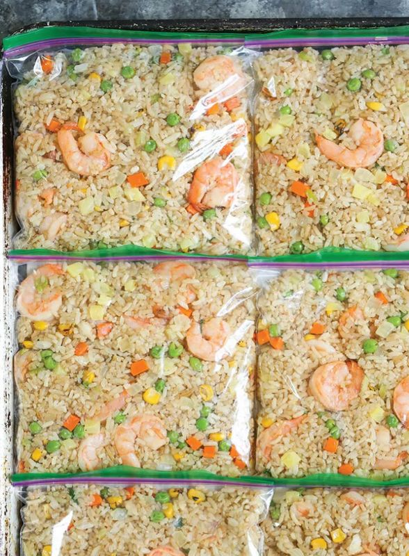 Get the Freezer Shrimp Fried Rice recipe from Damn Delicious