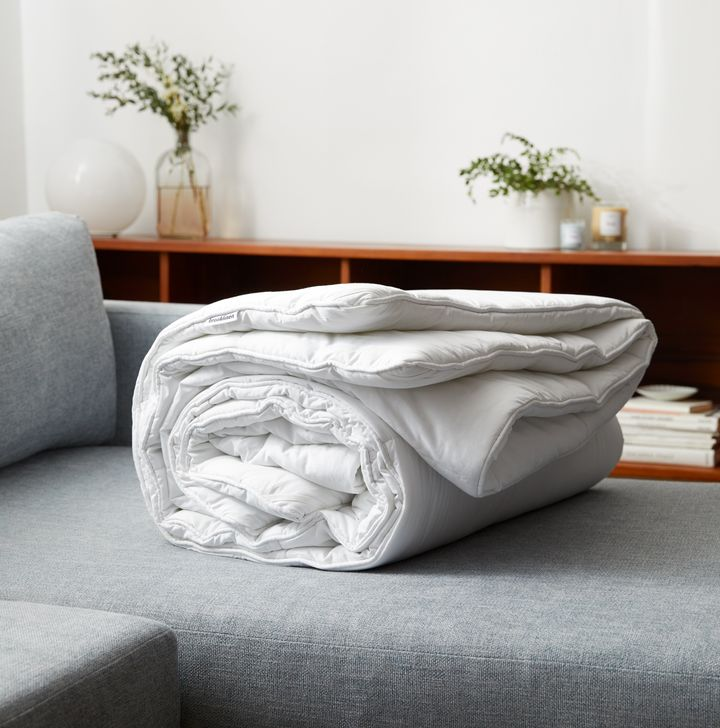 Unlike most weighted blankets on the market, Brooklinen's weighted comforter was designed with corner loops so you can easily pair it with your favorite duvet cover and wash it as often as you'd like. Most weighted blankets must be dry cleaned and don't fit duvet covers.