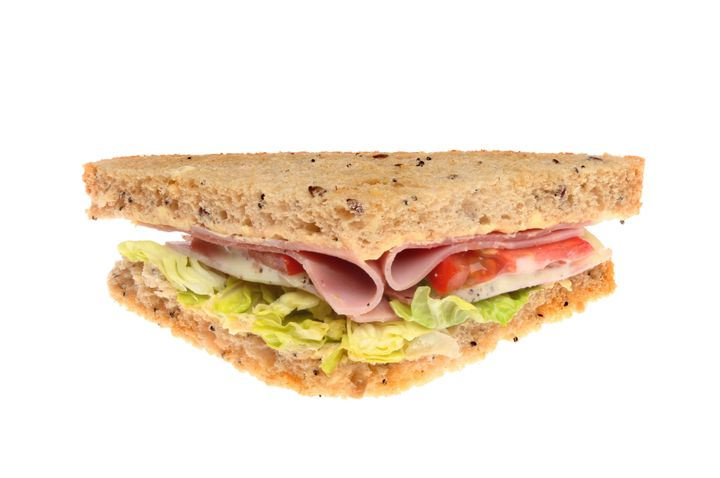 ham salad sandwich with seeded...