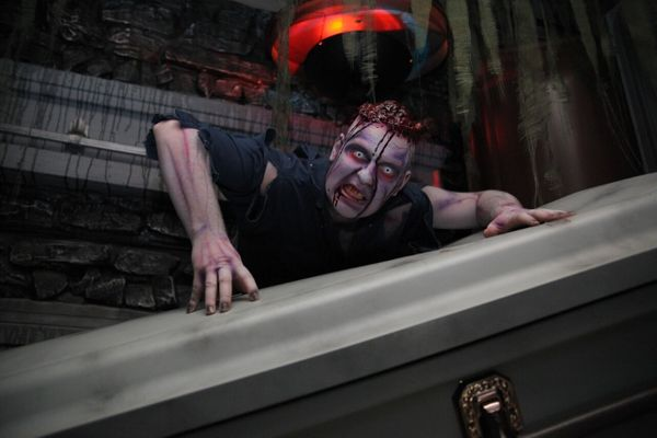 """Some haunted attractions use the human touch to spook customers, but <a href=""""http://www.hauntedpontiac.com"""" target=""""_blank"""">"""