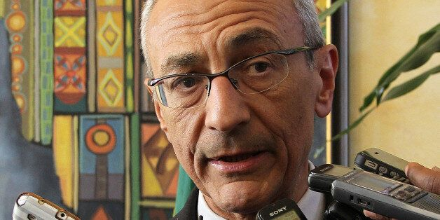 ADDIS ABABA, ETHIOPIA - JANUARY 15: Counselor to the President of the United States John Podesta speaks to the media after me