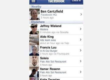 With Facebook Places, users will be able to check in to a location (i.e. a park, bar, store, or restaurant). That check-in wi