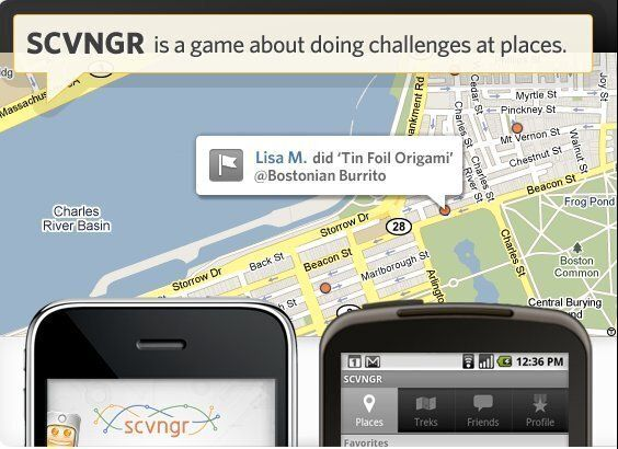 Location-based gaming platform SCVNGR is offering deals to users who check in at select retail locations. For example, starti