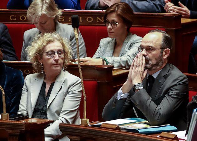 Édouard Philippe et Muriel Pénicaud à l'Assemblée nationale le 25