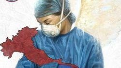 L'omaggio dei carabinieri al personale sanitario che combatte il Coronavirus è già un