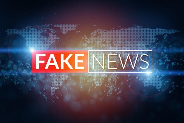 fake news live screen template on digital world map