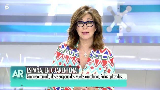 Ana Rosa Quintana, el 11 de marzo de 2020 en su