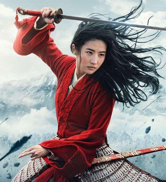 Liu Yifei in character as Mulan