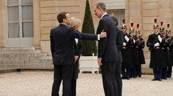 El saludo de los reyes con Macron y su esposa en París sin darse la mano por el