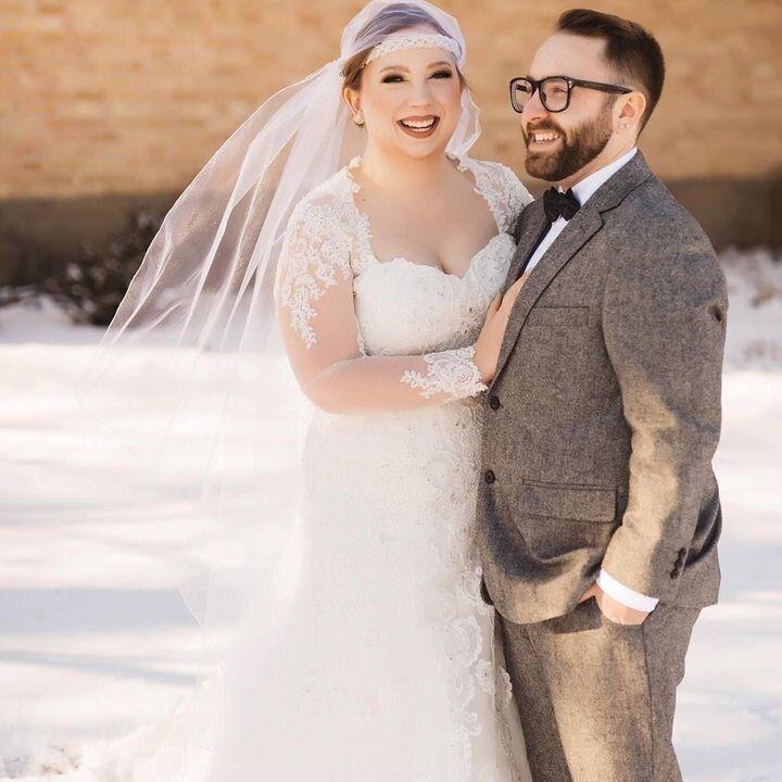 L'autrice et son mari