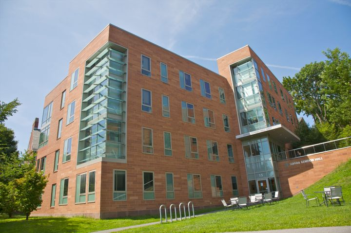 The exterior of Sophia Gordon Hall Tufts University, Medford, Massachusetts, New England, USA.