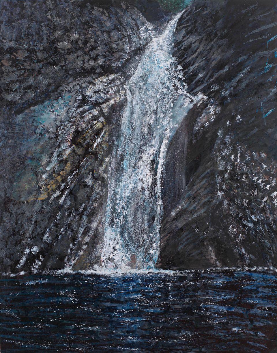 «Ροή», 2011, λάδι σε μουσαμά, 197Χ155