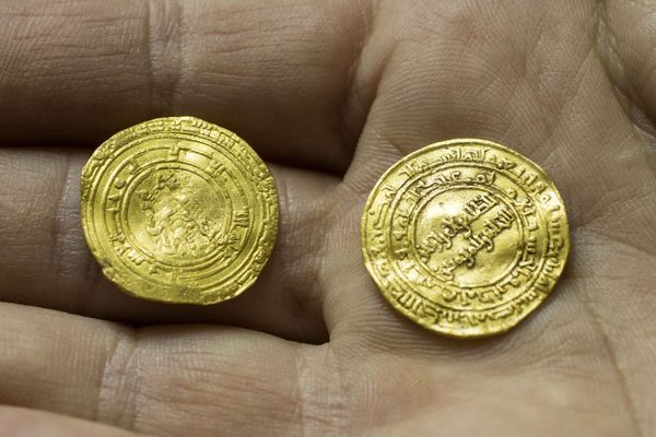Two of the gold coins.