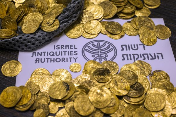 The gold coins are now being studied by the Israel Antiquities Authority.
