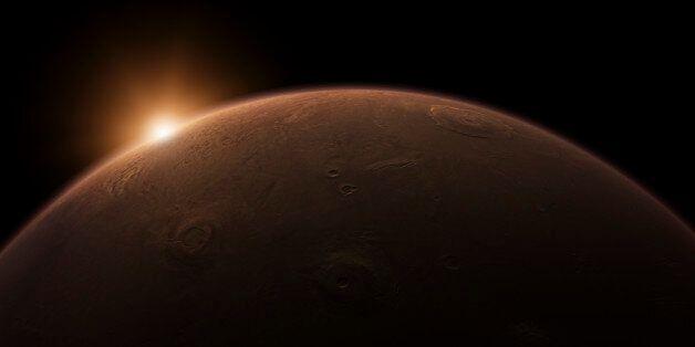 Sunrise over Mars