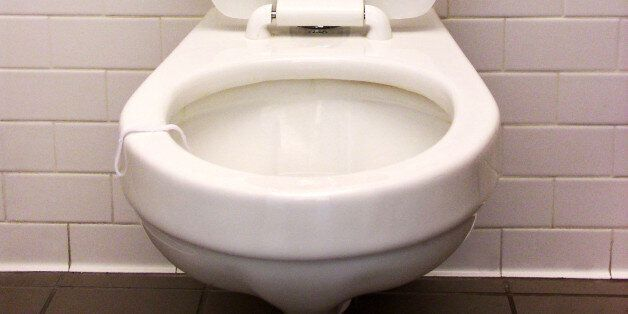 a view of a toilet in a public...