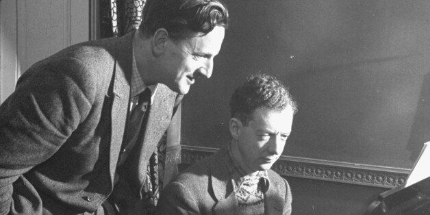 (L-R) Benjamin Britten rehearsing with Peter Pears.  (Photo by George Rodger//Time Life Pictures/Getty Images)