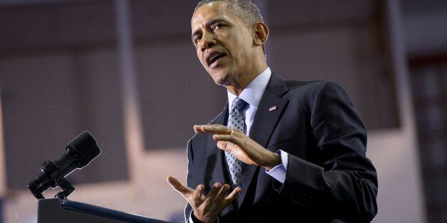 US President Barack Obama speaks on raising the minimum wage at Central Connecticut State University in New Britain, Connecti