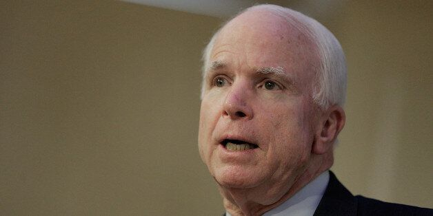 WASHINGTON, DC - JUNE 18:  Sen. John McCain (R-AZ) participates in a discussion on the unfolding violence in Iraq on June 18,