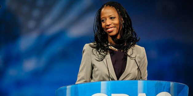 NATIONAL HARBOR, MD - MARCH 16: Mia Love, Republican Mayor of Saratoga Springs, Utah, speaks at the 2013 Conservative Politic