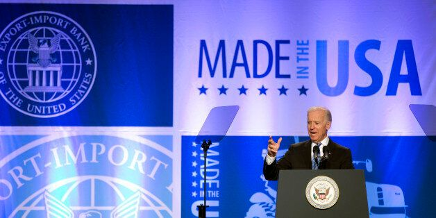 Vice President Joe Biden speaks at the 2013 Annual Conference of the Export-Import Bank in Washington, Friday, April 5, 2013.