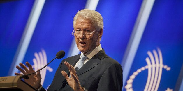 Former U.S. President Bill Clinton speaks during the annual meeting of the Clinton Global Initiative (CGI) in New York, U.S.,