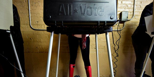 FILE PHOTO: 'BEST PHOTOS OF 2012' (***BESTOF2012***): Voters cast their ballots at a polling location in Chicago, Illinois, U