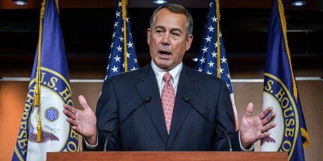 WASHINGTON, DC - DECEMBER 11: Speaker of the House John Boehner holds a press conference to address the pending resolution v