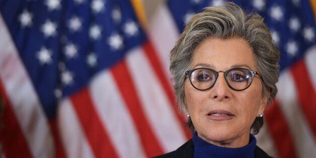 Senator Barbara Boxer, D-CA, speaks during a press conference calling for the creation of an independent military justice sys