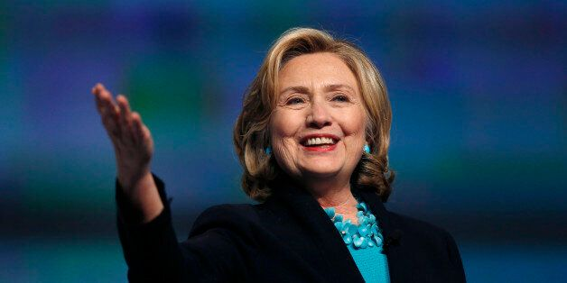 Former Secretary of State Hillary Rodham Clinton speaks at the Massachusetts Conference for Women in Boston, Thursday, Dec. 4
