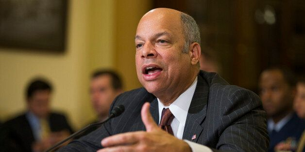 Homeland Security Secretary Jeh Johnson testifies on Capitol Hill in Washington, Tuesday, Dec. 2, 2014, before a House Homela