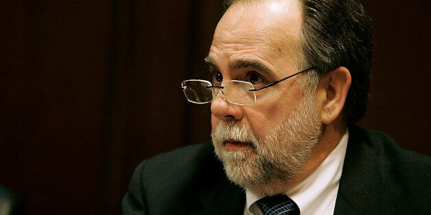 Idaho Representative Vito Barbieri talks with reporters at the Capitol building on Thursday, Jan. 5, 2012 in Boise, Idaho. Ba