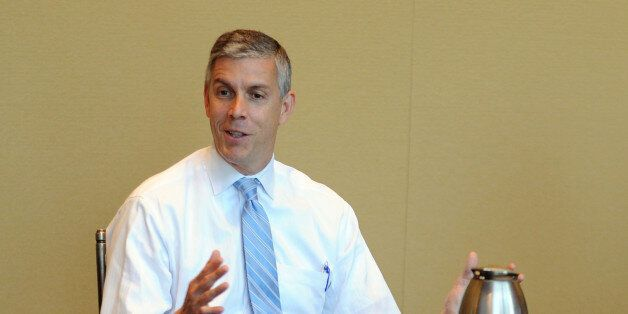 NEW YORK, NY - SEPTEMBER 20:  United States Secretary of Education Arne Duncan speaks at the TIME Summit On Higher Education