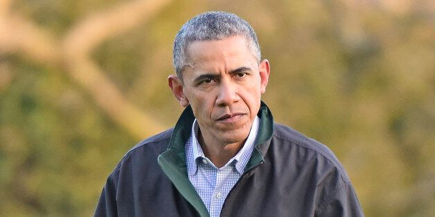 WASHINGTON, DC - MARCH 29:  U.S. President Barack Obama returns to the White House March 29, 2015  in Washington, DC. The pre