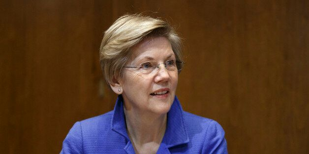 FILE - In this Jan. 8, 2015 file photo, Sen. Elizabeth Warren, D-Mass. is seen on Capitol Hill in Washington. Inside the Demo