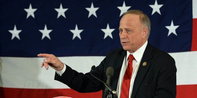 NASHUA, NH - APRIL 17: U.S. Rep. Steve King (R-IA) speaks at the First in the Nation Republican Leadership Summit April 17, 2