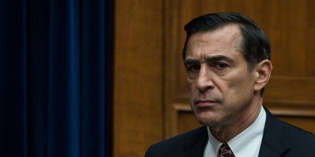 US House Oversight and Government Reform Committee chairman Darrell Issa arrives for a hearing with Internal Revenue Service