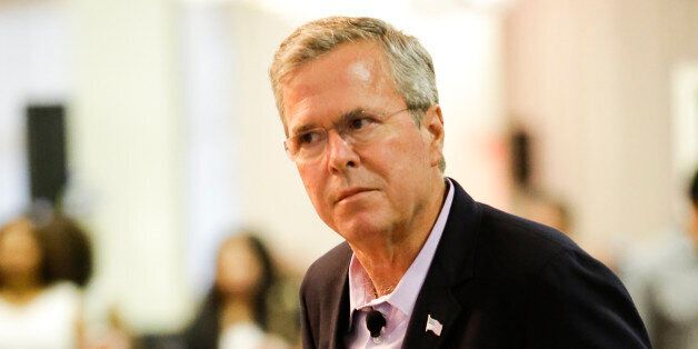 Republican presidential candidate former Florida Gov. Jeb Bush speaks at a small business town hall meeting, Monday, July 27,