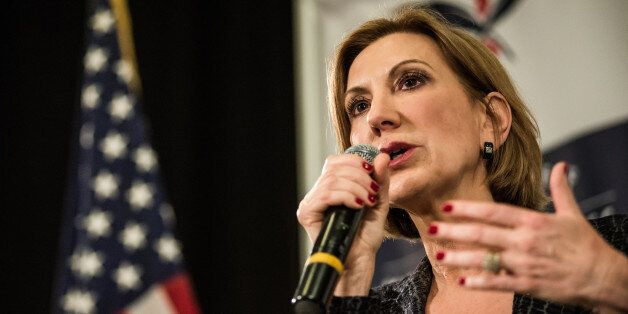 MYRTLE BEACH, SC - SEPTEMBER 22: Republican presidential candidate Carly Fiorina speaks to voters during a town hall meeting