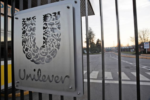 A view of the Unilever factory in Casalpusterlengo, near Lodi in Northern Italy, where workers are being...