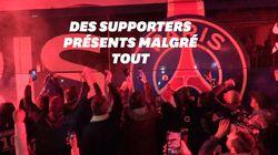 Privés de stade pour PSG-Dortmund, des milliers d'ultras accueillent le bus des