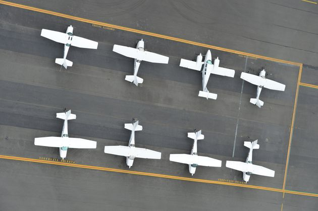 Light Aircraft bay at Gold Coast Airport on August 10th, 2012 in Gold Coast,