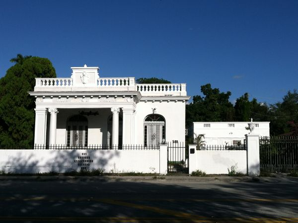 Tucked away in Little Haiti, the 10-bedroom manse was built for the Cuban consulate general and his wife, Paula. She died aft