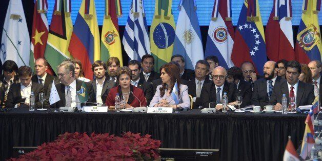 General view during the 47th Mercosur Summit, in Parana, Entre Rios, Argentina on December 17, 2014. AFP PHOTO / Juan Mabroma