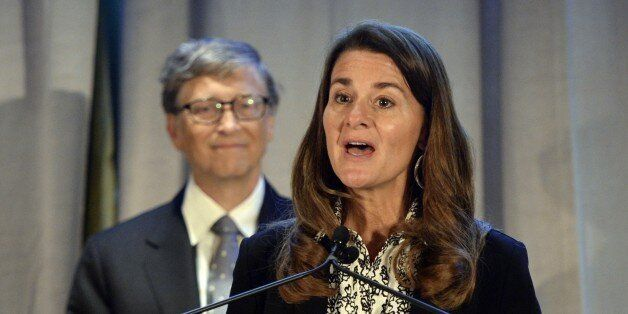 Renowned philanthropists Bill and Melinda Gates(R)  receive the Lasker Award  September 20, 2013. The Gates received the Lask