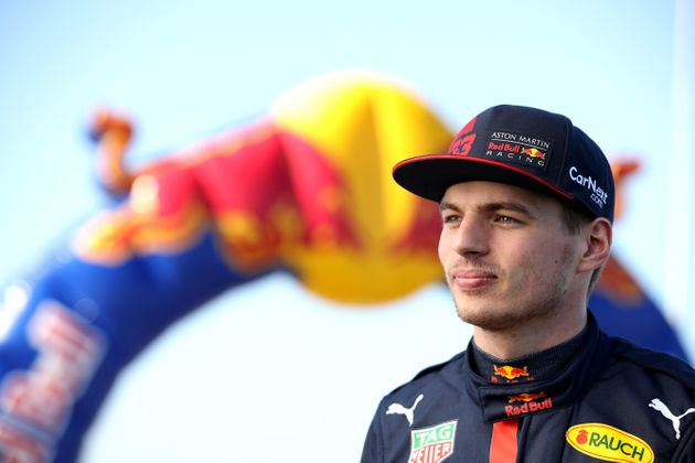 Max Verstappen of Netherlands and Red Bull Racing looks on during the Aston Martin Red Bull Racing Cooler...
