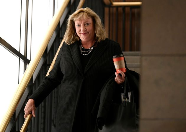 Conservative MP Marilyn Gladu arrives on Parliament Hill in Ottawa, on Jan. 24,